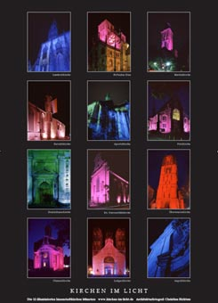 Poster: churches in light